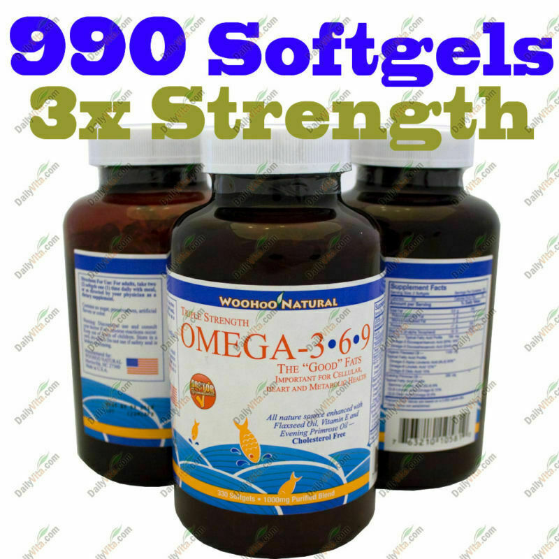 3x Strength Omega 3 6 9 Fish Oil Dha Epa 990sg Made In Usa Free