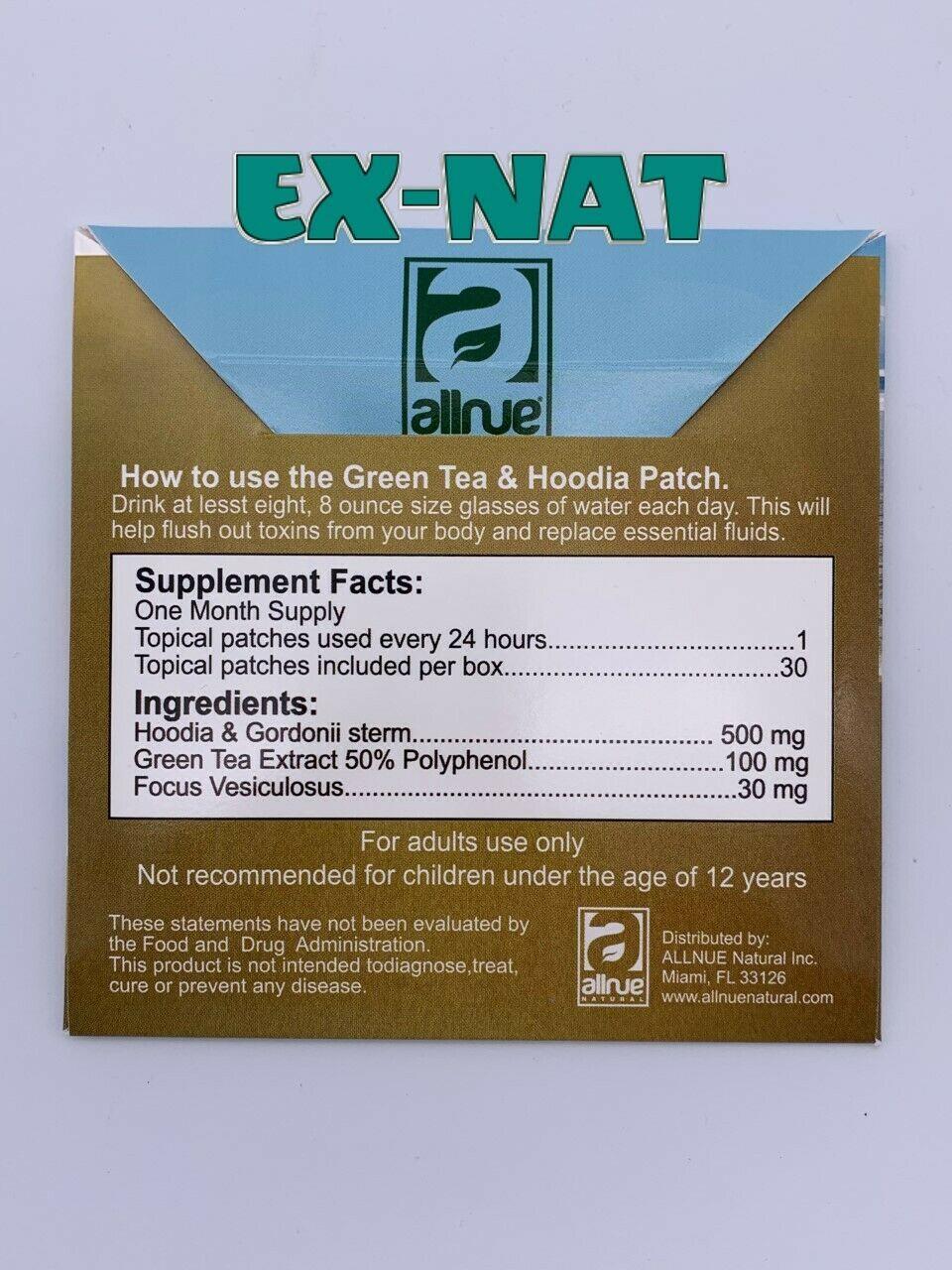 4 Green Tea With Hoodia Patch Weight Loss Berkley Hill Patch Fast